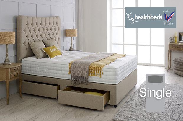 Healthbeds Enviro-Lux 1400 Single Divan Bed