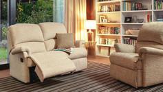 Sherborne Nevada 2 Seater Fabric Recliner Sofa & Small Armchair