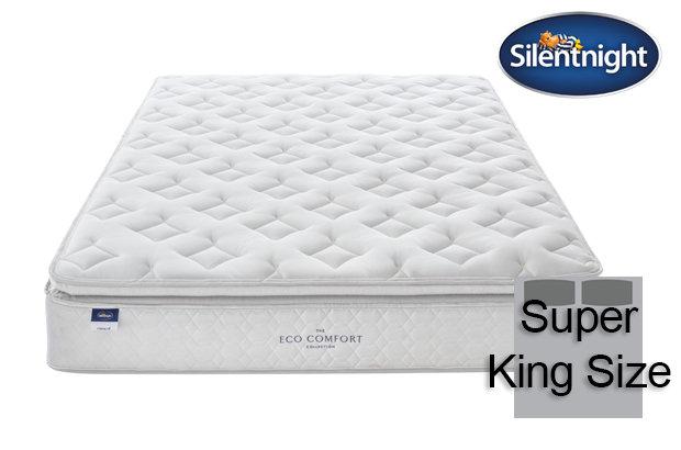 Silentnight Miracoil Laila Eco Comfort Pillow Top Super King Size Mattress