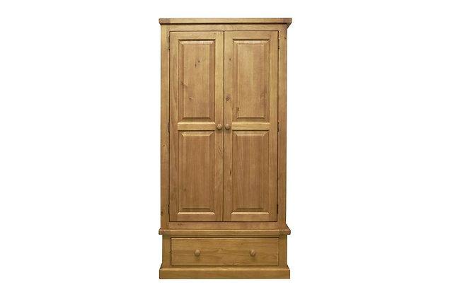 Budget Pine 2 Door + 1 Drawer Wardrobe