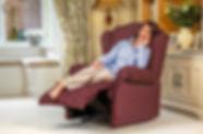 Sherborne Claremont Fabric Manual Recliner Sofa