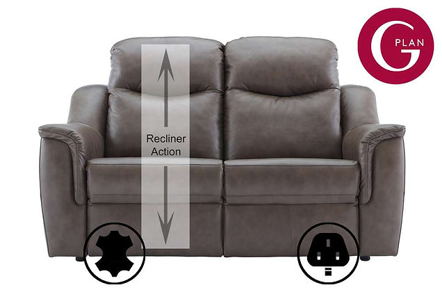 G Plan Firth Leather 2 Seater Single Power Recliner Sofa (Left Hand Facing)