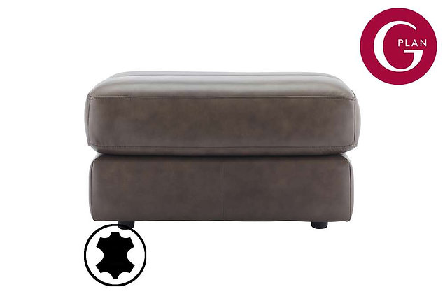 G Plan Firth Leather Footstool