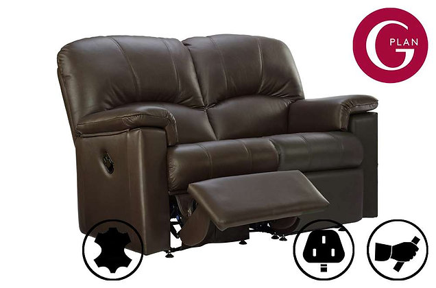 G Plan Chloe Leather 2 Seater Left Hand Facing Single Recliner Sofa
