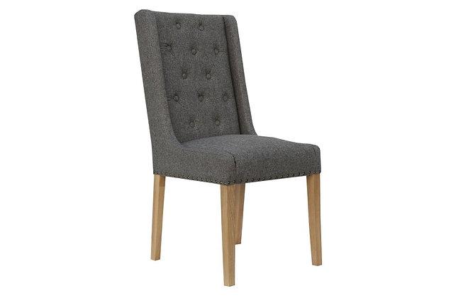 Winged Dining Chair – Dark Grey