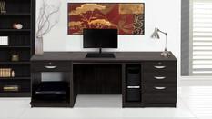 R White Office Furniture in Black Havana