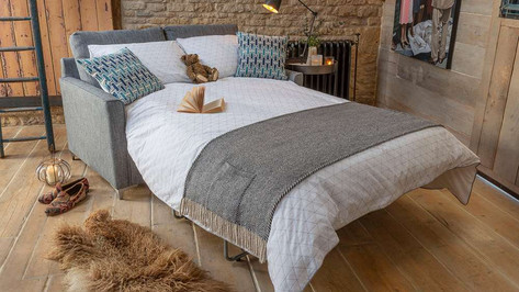 Alstons Lexi 3 Seater Fabric Sofa Bed