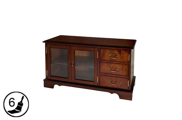 Simply Classical TV Unit With Glass Doors