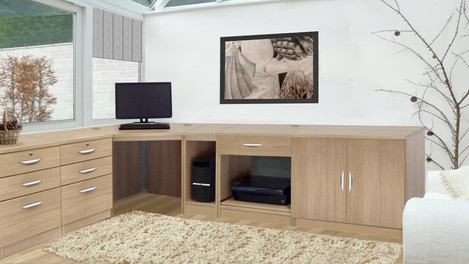 R White Office Furniture in Sandstone