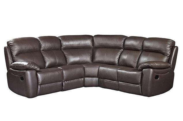 Aston Leather Recliner Corner Sofa