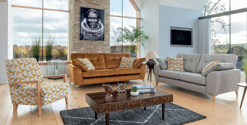 Tromso Fabric Grand sofa, 3 Seater Sofa and Accent Chair