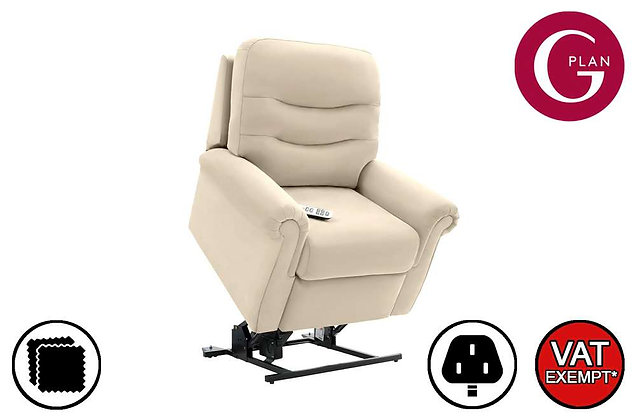 G Plan Holmes Leather Lift & Rise Recliner Chair