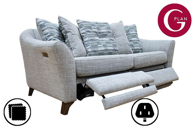 G Plan Hatton 3 Seater Pillow Back Sofa With Power Foot Rest