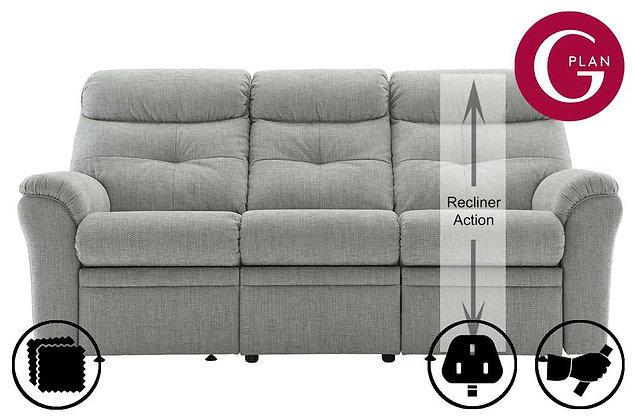 G Plan Newton 3 Seater Single Recliner Sofa (Right Hand Facing)