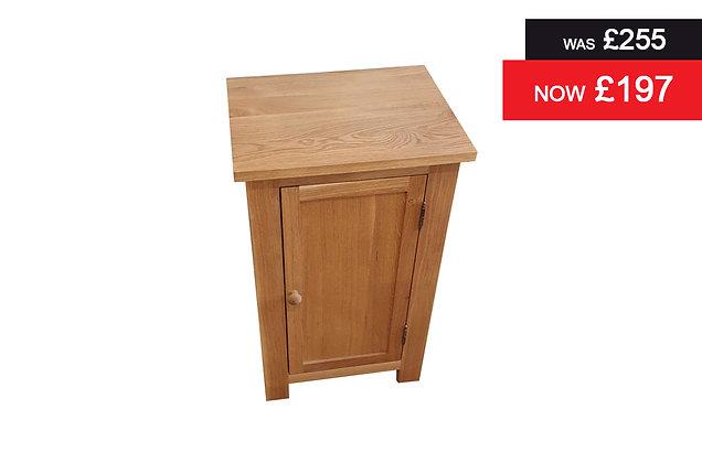 Charmwood Small Single Door Cupboard - Oak
