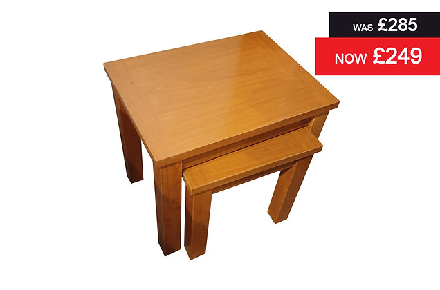 Teak Nest of 2 Tables - Teak Finish