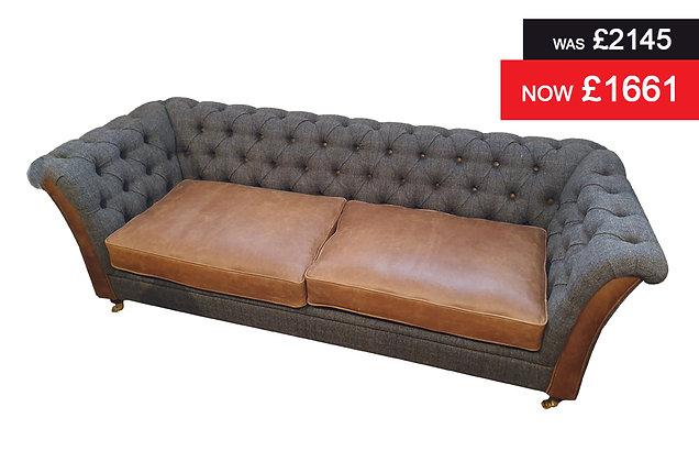 Nuffield 3 Seater Sofa - Cerato Brown Harris Tweed