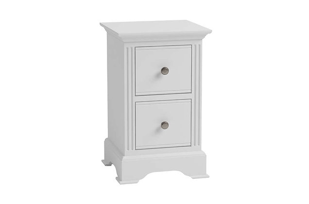 Polar White Small Bedside