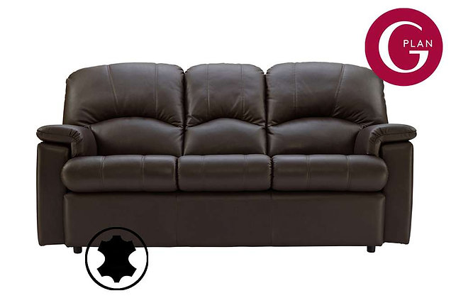 G Plan Chloe Leather Small 3 Seater Sofa