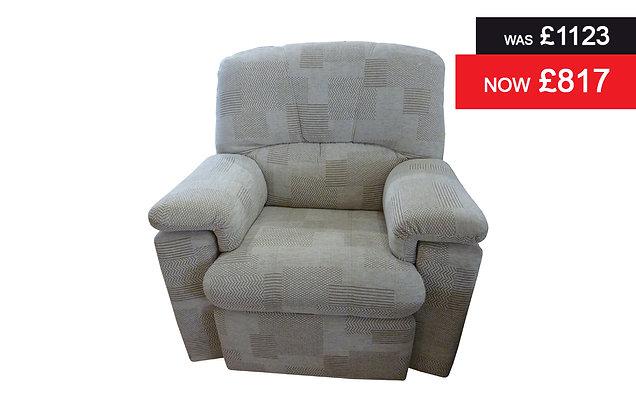 G Plan Chloe Standard Chair - Checkers Putty