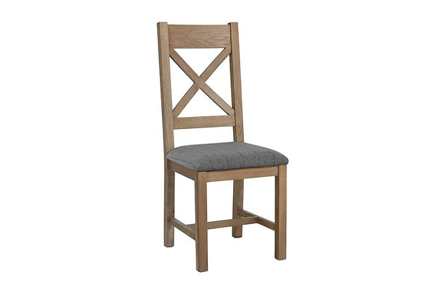 Toulouse Cross Back Dining Chair (Grey Check)