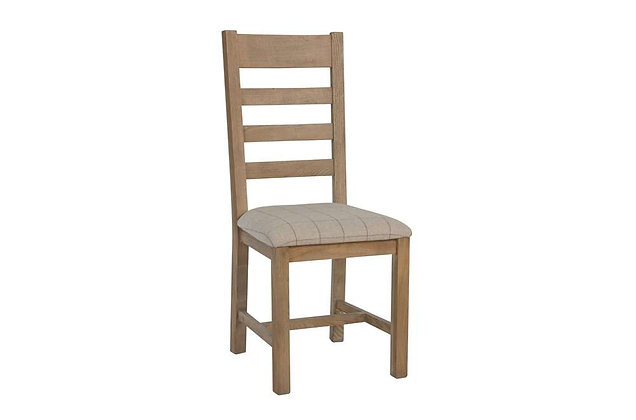Toulouse Slatted Dining Chair (Natural Check)