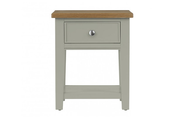 Somerdale Lamp Table – Rockford Grey with Natural Top