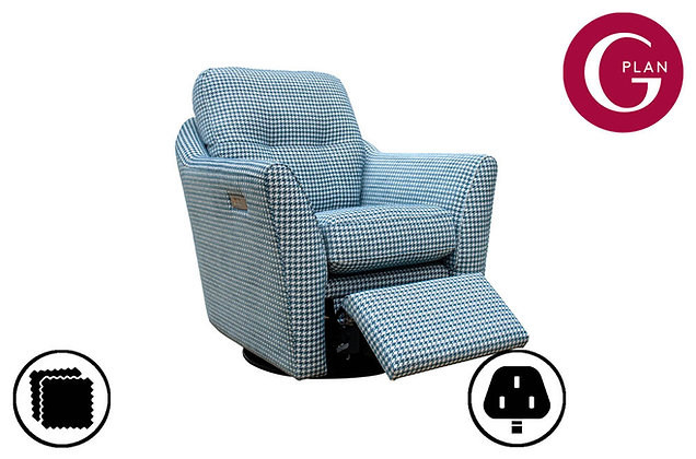 G Plan Flint Swivel Chair With Power Foot Rest