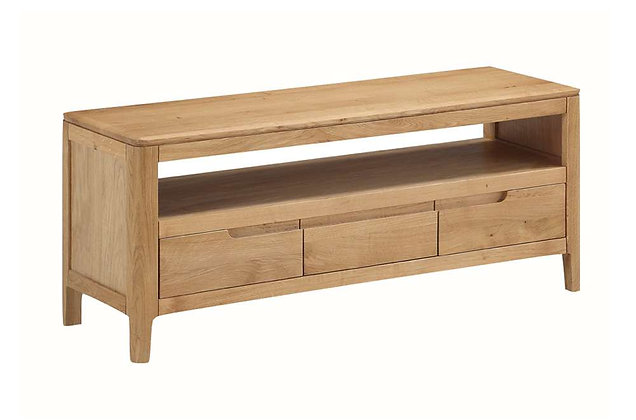 Demure Oak Large TV Unit
