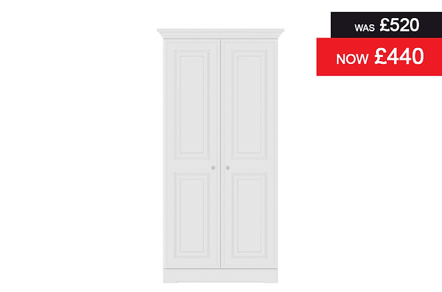 Nicole 2 Door Wardrobe - White