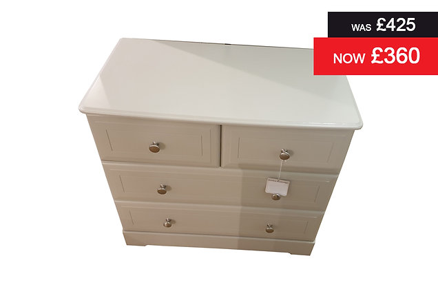 Nicole 2 plus 2 Drawer Chest - Grey