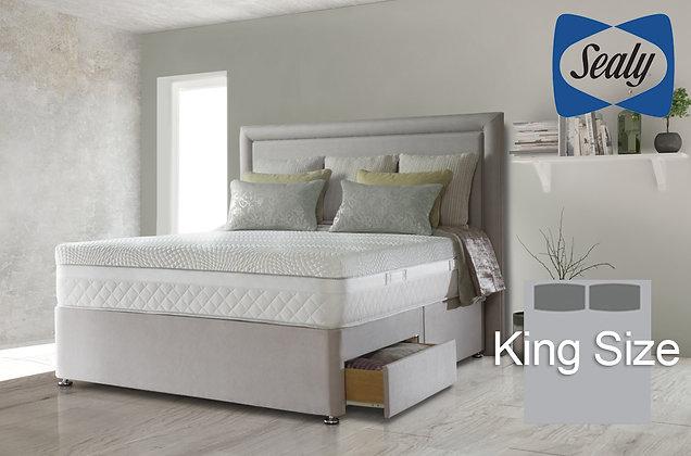 Sealy Hybrid Pocket Serenity 1400 King Size Divan Bed