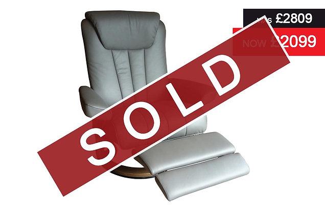 Stressless Bliss Large Leg Comfort Electric Recliner Chair - Paloma Metal Grey