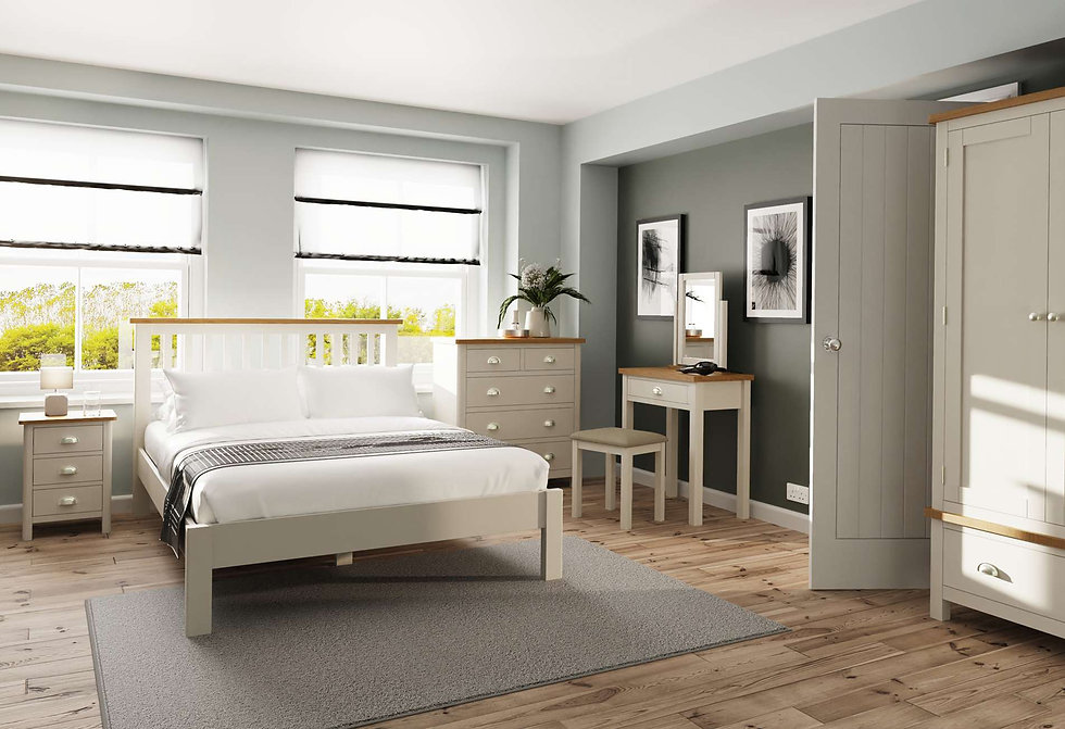 Boston Bedroom Furniture - Wardrobes, Chest of Drawers, Bedside Cabinets, Dressing Tables, Stool and Mirrors