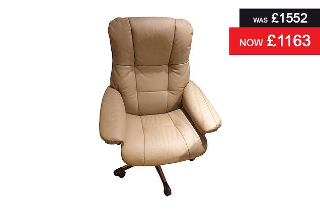 Stressless Mayfair Medium Office Chair - Batick Mole