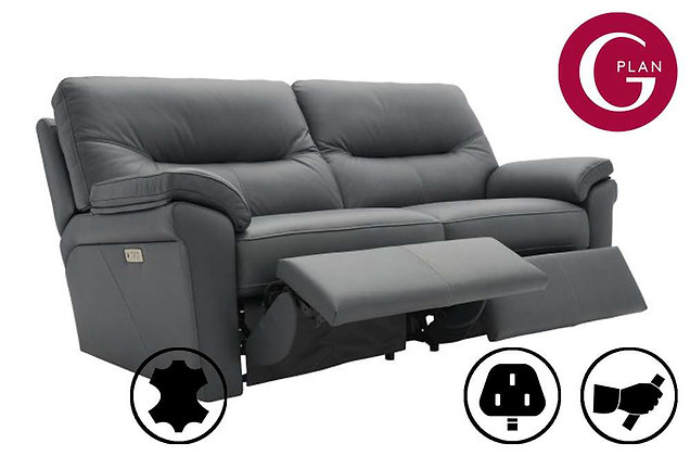G Plan Seattle Leather 3 Seater Recliner Sofa