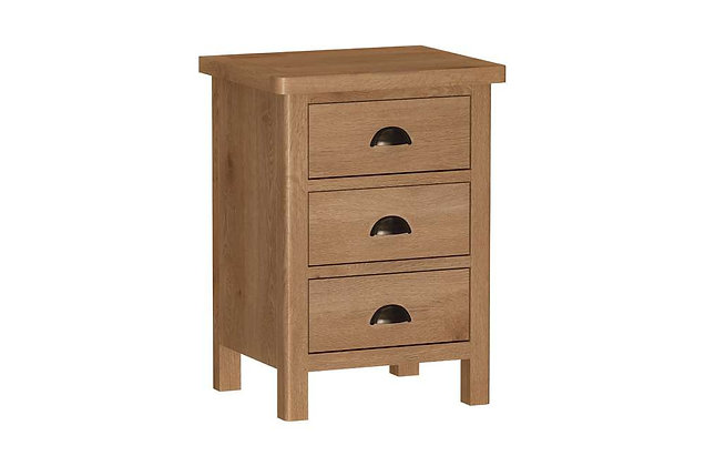 Raoti Large 3 Drawer Bedside Cabinet