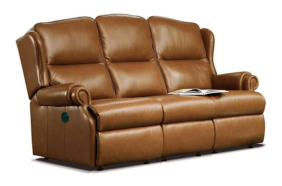 Sherborne Claremont Leather 3 Seater Recliner Sofa