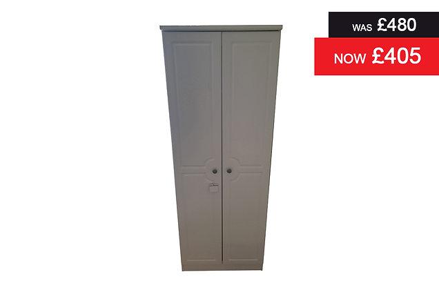 Clifton Tall 2 Door Robe - White