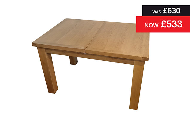 C Oak 1.2 metre Extending Dining Table - Oak