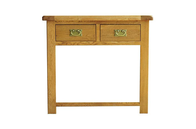 Rustic Charm 2 Drawer Console Table