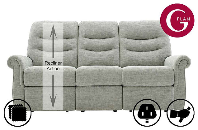 G Plan Holmes LHF Single 3 Seater Recliner Sofa