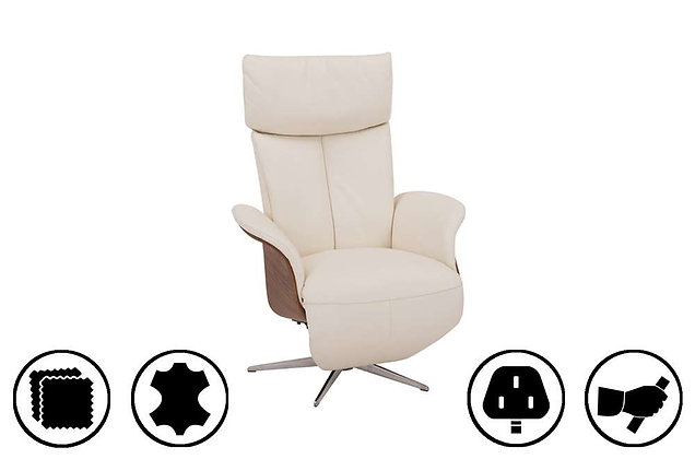 Horsens Small Recliner Chair with Integrated Footrest