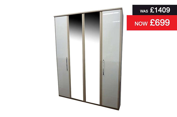 Azure Tall 4 Door BiFold Wardrobe