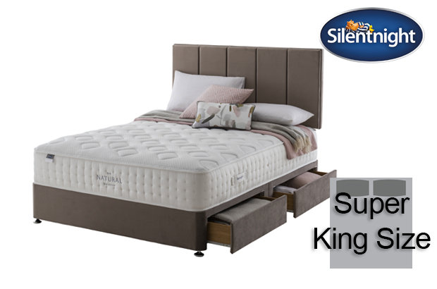 Silentnight Mirapocket Allegro Natural 1400 Super King Size Divan Bed