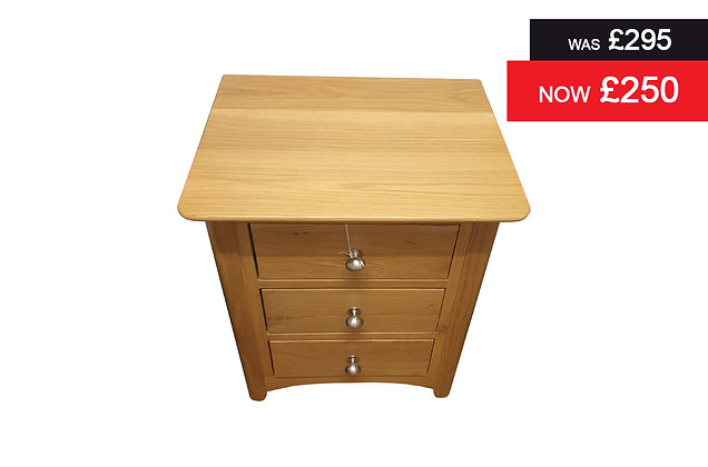 Charmwood 3 Drawer Bedside