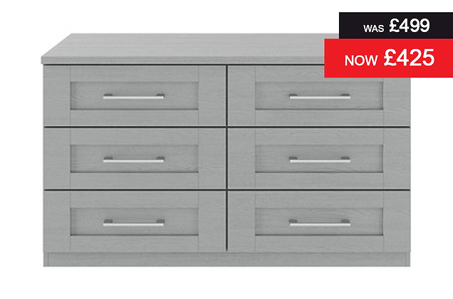 Alpha 6 Drawer Wide Chest
