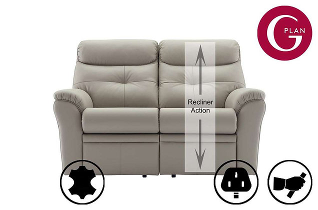 G Plan Newton Leather 2 Seater Single Recliner Sofa (Right Hand Facing)