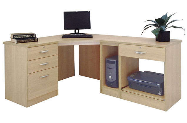 Set 18 – Corner Desk Set with Flexible Storage Options