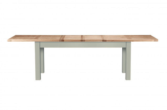 Bretagne 200cm Extending Dining Table – Rockford Grey with Natural Top